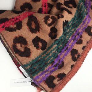 🆕 BCBG Leopard Print Blanket Scarf Pashmina Wrap